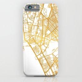 MANILA PHILIPPINES CITY STREET MAP ART iPhone Case