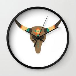 Vintage Bull Skull Wall Clock