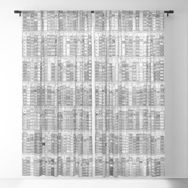 The Library II Sheer Curtain