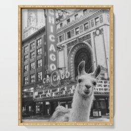 Chicago Llama Serving Tray