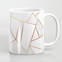 White Stone & Copper Lines Coffee Mug