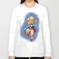 supergirl Long Sleeve T-shirts featuring supergirl by Kenyokedon