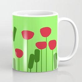 Poppies in green Coffee Mug
