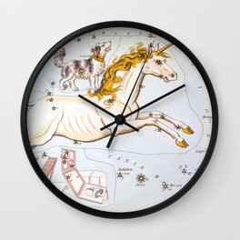 Antique Constellation Map of Monoceros (unicorn), Canis Minor (little dog) Wall Clock