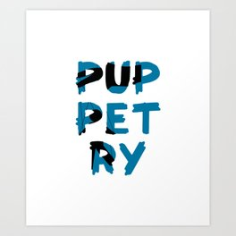 Puppetry  Shadow Name Art Print