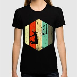 A Basketball Tee For Players With A Vintage Retro Silhouette Of A Man Showing His Skills T-shirt T-shirt
