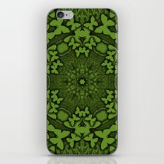 Butterfly kaleidoscope in green iPhone & iPod Skin