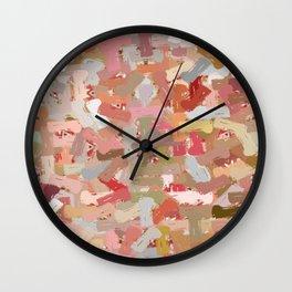 Coral Beads Paint Splatter 5050 Wall Clock