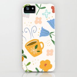 The lovely yellow cup - Hand-painted gouache iPhone Case
