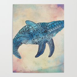 Baby Whale Poster