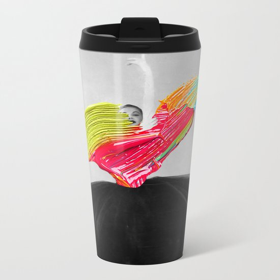 Stroked Metal Travel Mug