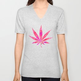Blush Cannabis Swirl Unisex V-Neck