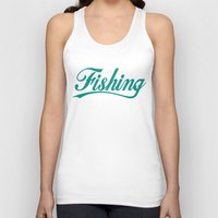 fishing Tank Tops featuring Fishing by TurkeysDesign