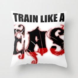 Train like a Beast Throw Pillow