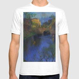 Twilight in Riga, Latvia by Nikolay Bogdanov-Belsky T-shirt