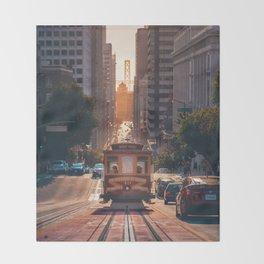 San Francisco Trolley (Color) Throw Blanket