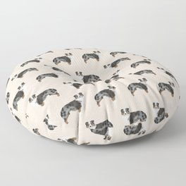 Australian Shepherd owners dog breed cute herding dogs aussie dogs animal pet portrait hearts Floor Pillow