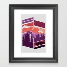 Vanishing Points Framed Art Print