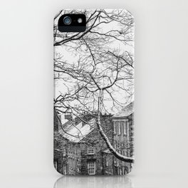 Winter Scenic of Castle Street, Lancaster. iPhone Case