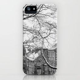Winter Scenic of Castle Street, Lancaster. iPhone Case