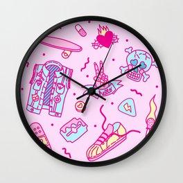 Pink Punk Wall Clock