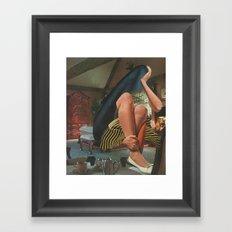 Contemplative Shroud Framed Art Print