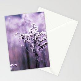 Ultraviolet grasses Stationery Cards