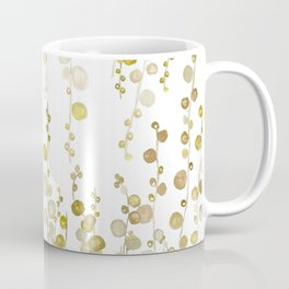 golden string of pearls watercolor Coffee Mug