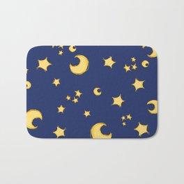 Moons and Stars Bath Mat