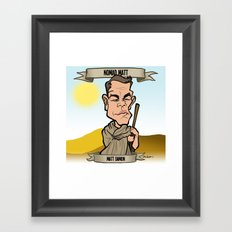 Nomad Matt (Matt Damon) Framed Art Print