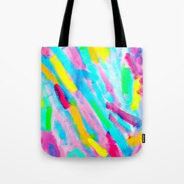 Uniqueness Blooms colorful abstract painting pink modern Tote Bag