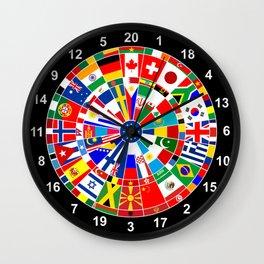 flags darts board Wall Clock