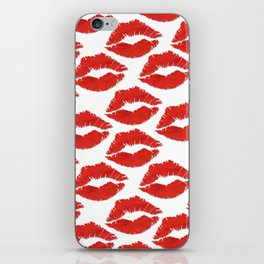 fire engine red lips iPhone Skin