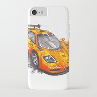 f1 iPhone & iPod Cases featuring McLaren F1  by Claeys Jelle Automotive Artwork