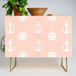 AFE Anchor and Helm Wheel Credenza