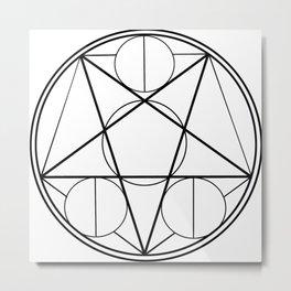 Magic Circle Metal Print