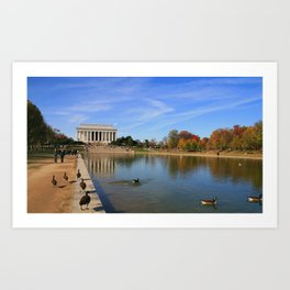 Lincoln Ducks Art Print