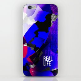 Graphic interpretation of the music Real Life by Kimbra iPhone Skin
