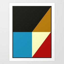 Mid Century Geometric A Art Print