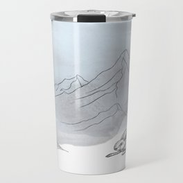 A Highland mountain hare Travel Mug