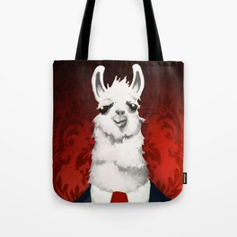 Formal Llama - Red Tote Bag