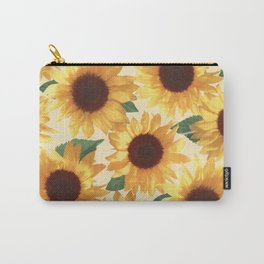 Happy Yellow Sunflowers Carry-All Pouch
