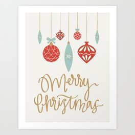 Merry Christmas Ornament Art Print
