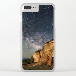 Broken Arch With The Rising Milky Way Clear iPhone Case