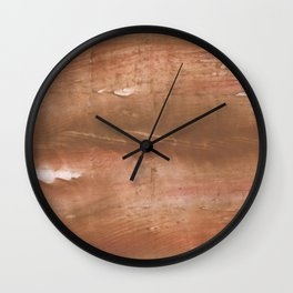 Sienna streaked wash drawing painting Wall Clock