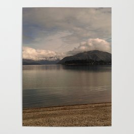 lake wanaka silent capture at sunset in new zealand Poster