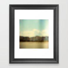 Blurry Beach Houses  Framed Art Print