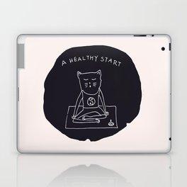 Relax Cat, A Healthy Start, Meditation Laptop & iPad Skin