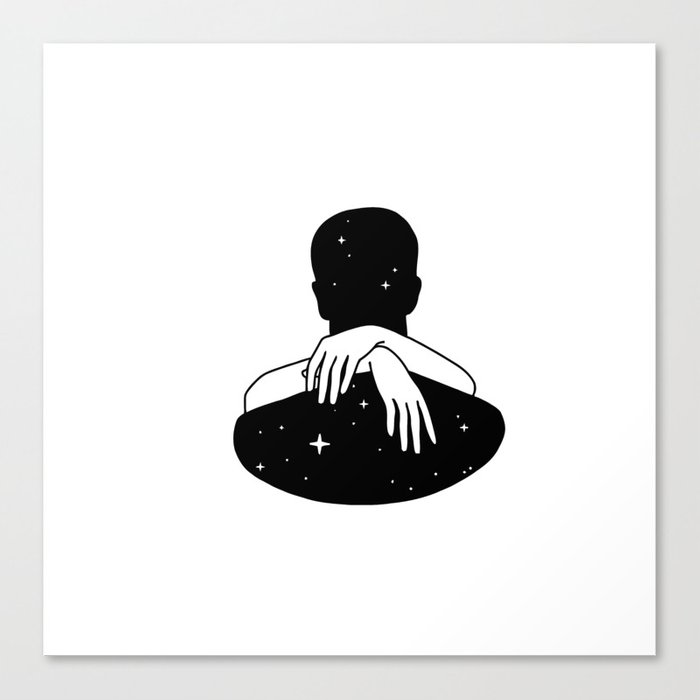 Hug the space Canvas Print