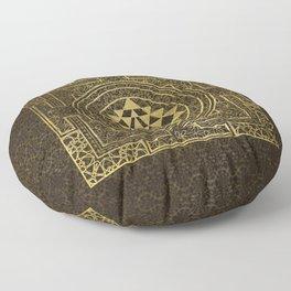 Gold Sri Yantra  / Sri Chakra Floor Pillow